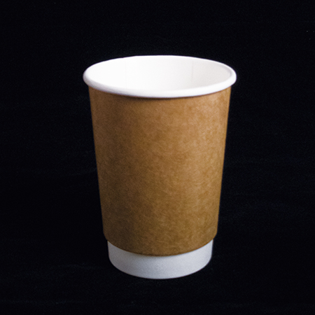 14 oz Double layer hot paper cup  (Kraft paper pattern)