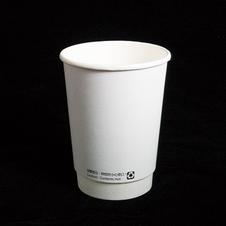 14 oz Double layer hot paper cup  (White hollow)