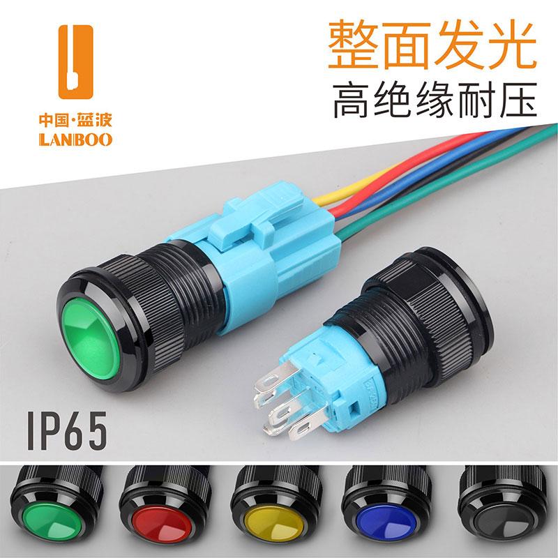 LB16SA(16mm高品质塑带灯料按钮开关,防水防尘,可配插件使用)