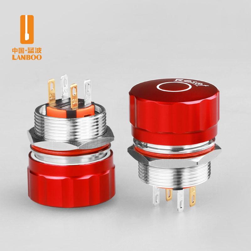 LBM6(红色大头不锈钢金属急停钮开关 保持式蘑菇钮阻燃防水IP65)