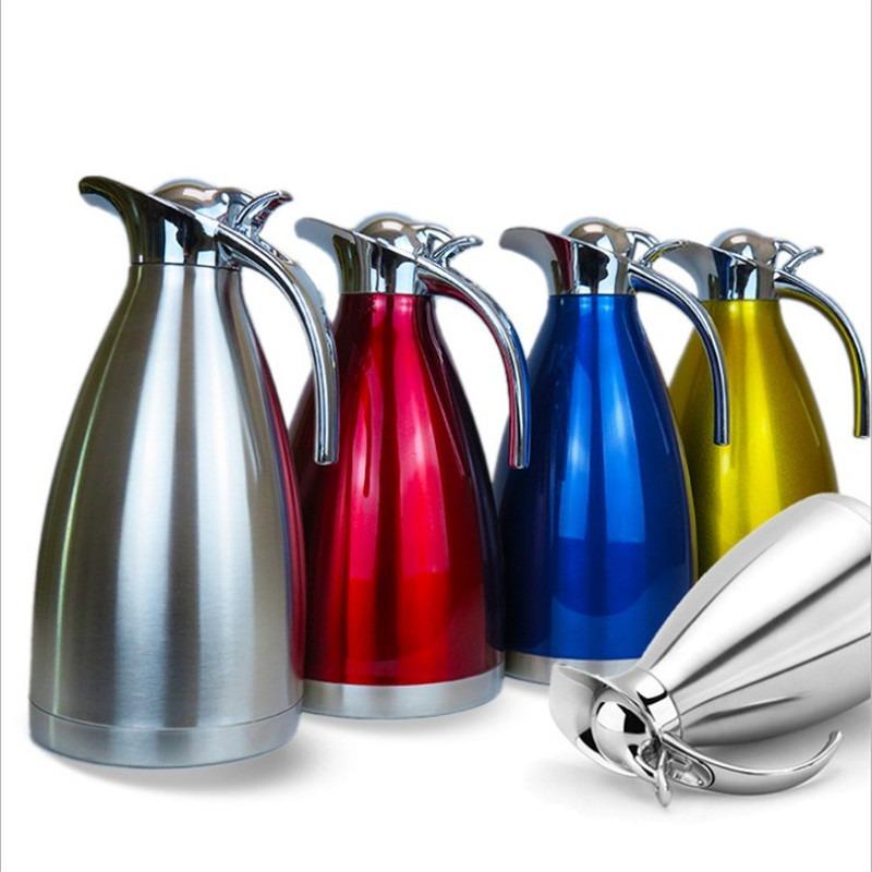 工厂直销 304新款咖啡壶 保温保冷 不锈钢真空保温壶礼品