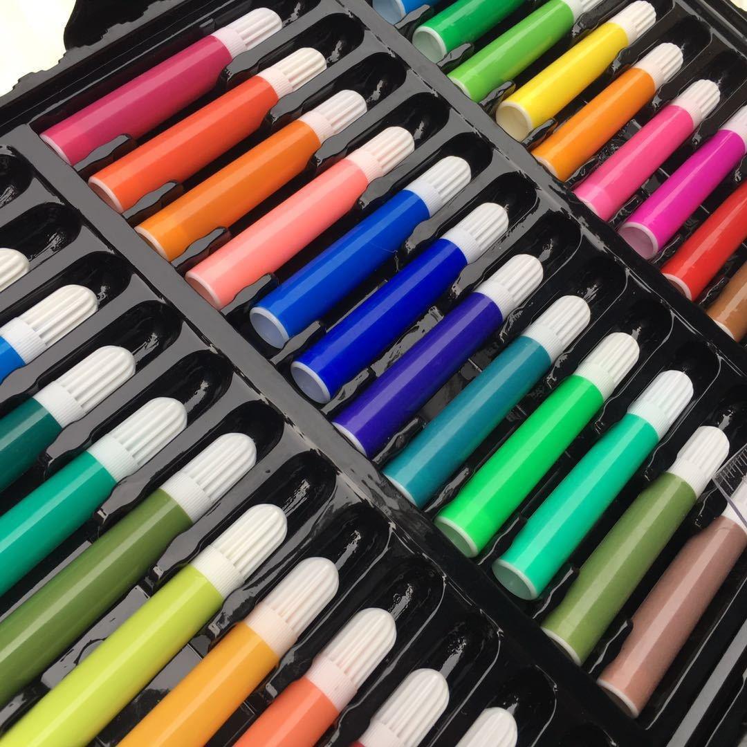 150画笔小学生儿童画画工具美术绘画学习用品水彩笔画笔套装幼儿