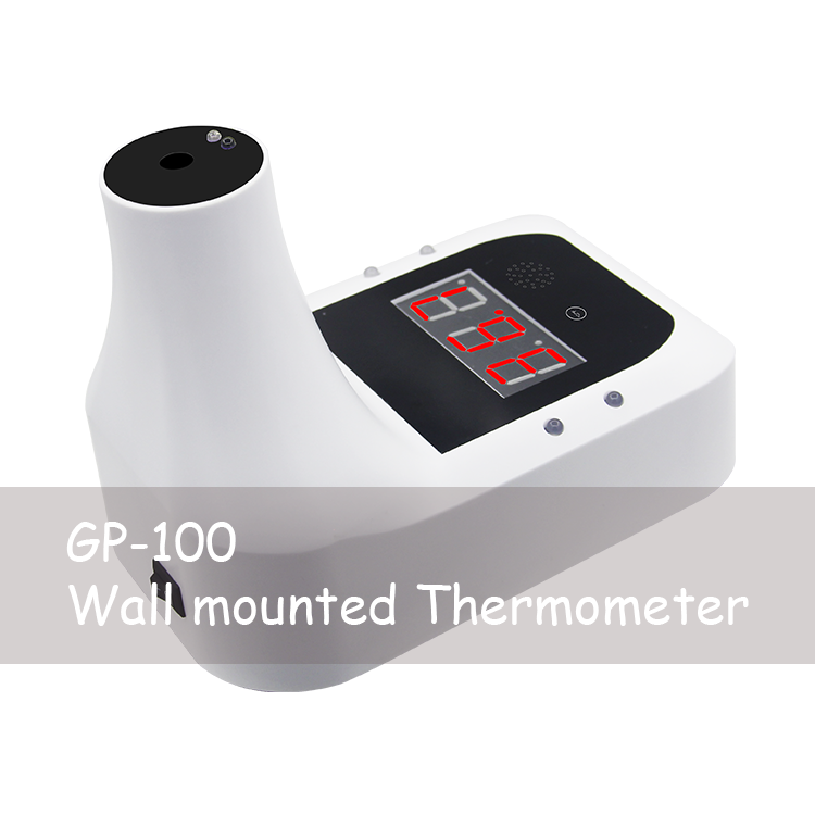GP100 Wall Mounted Infrared Thermometer Handsfree one