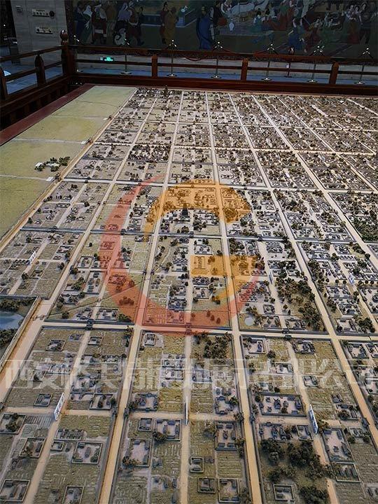 西安沙盘模型唐长安城