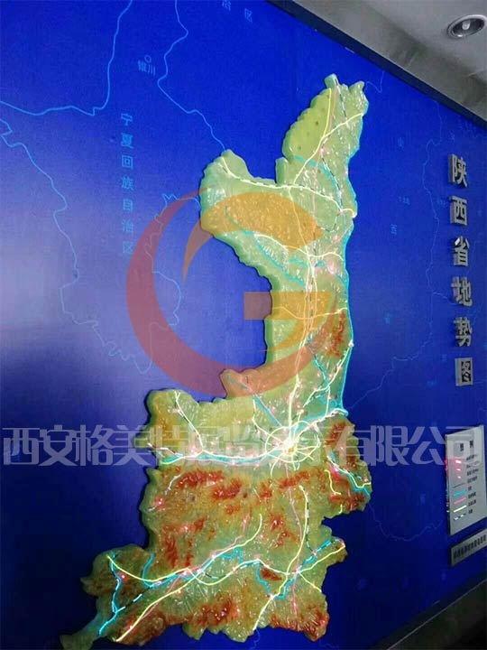 陕西沙盘模型仿玉地图