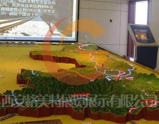 陕西铁路规划沙盘制作