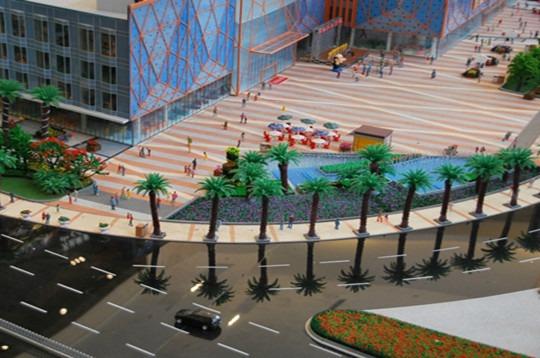 西安沙盘制作,沙盘制作建筑模型的景观及灯...