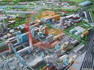 兴平沙盘模型煤化工厂