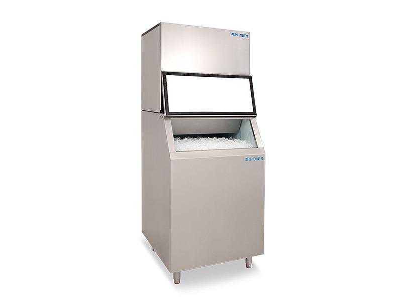 全自动商用分体式制冰机冰块机500kg中大型全不锈钢
