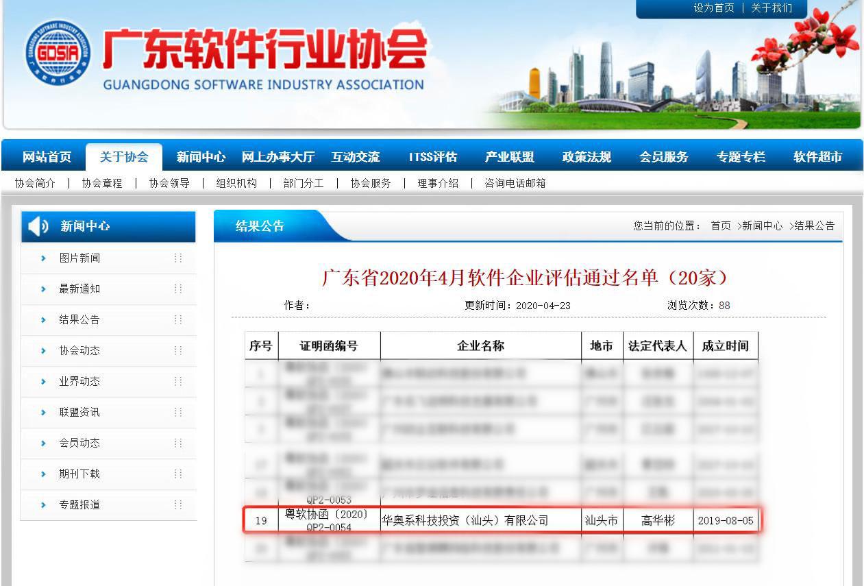 喜讯 | 华奥系科技顺利通过软件企业评估认定