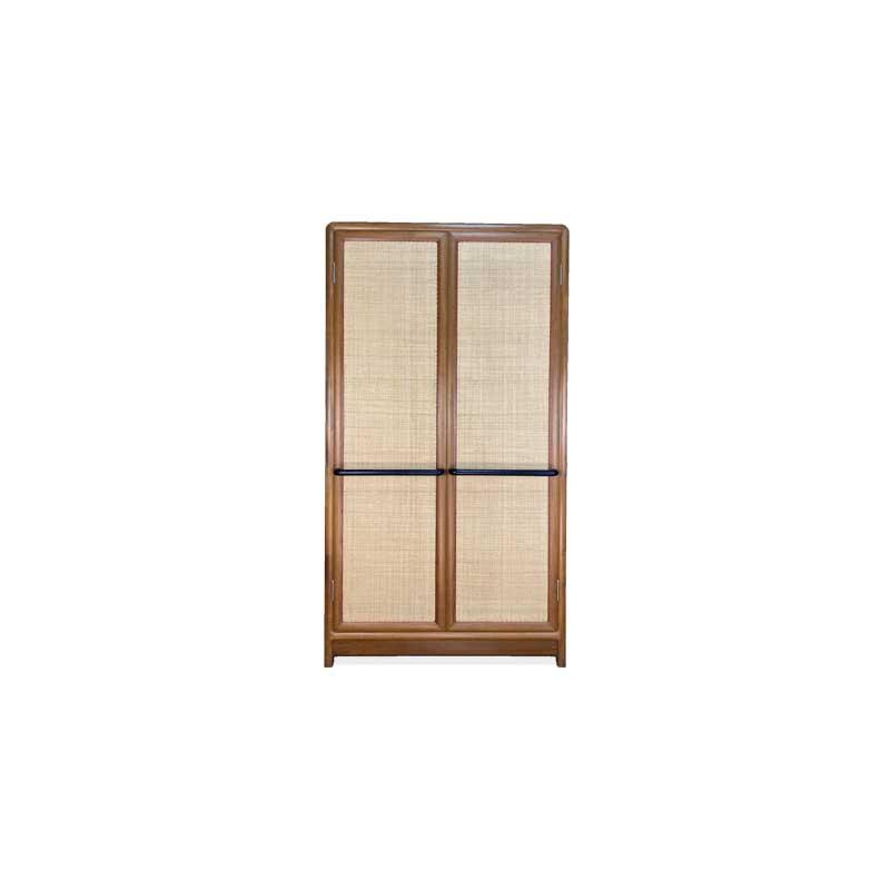 柚木藤编衣柜