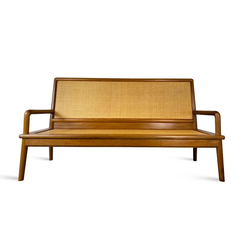 柚木藤编沙发