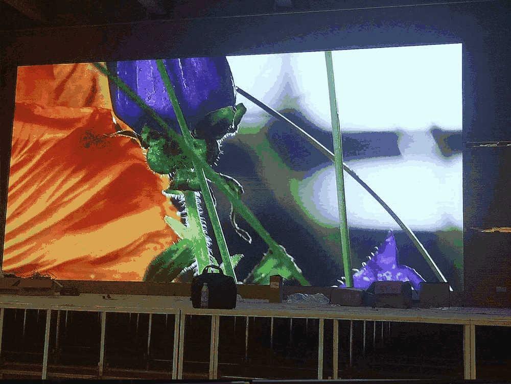荥阳八小60平室内p3全彩LED显示屏项目