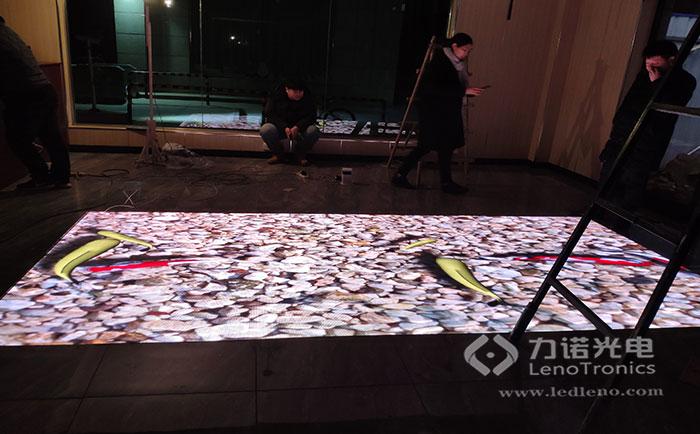焦作某音乐餐厅互动地砖屏