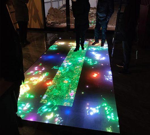 led互动地砖屏