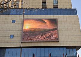 郑州西郊户外80平方P8全彩LED显示屏案例