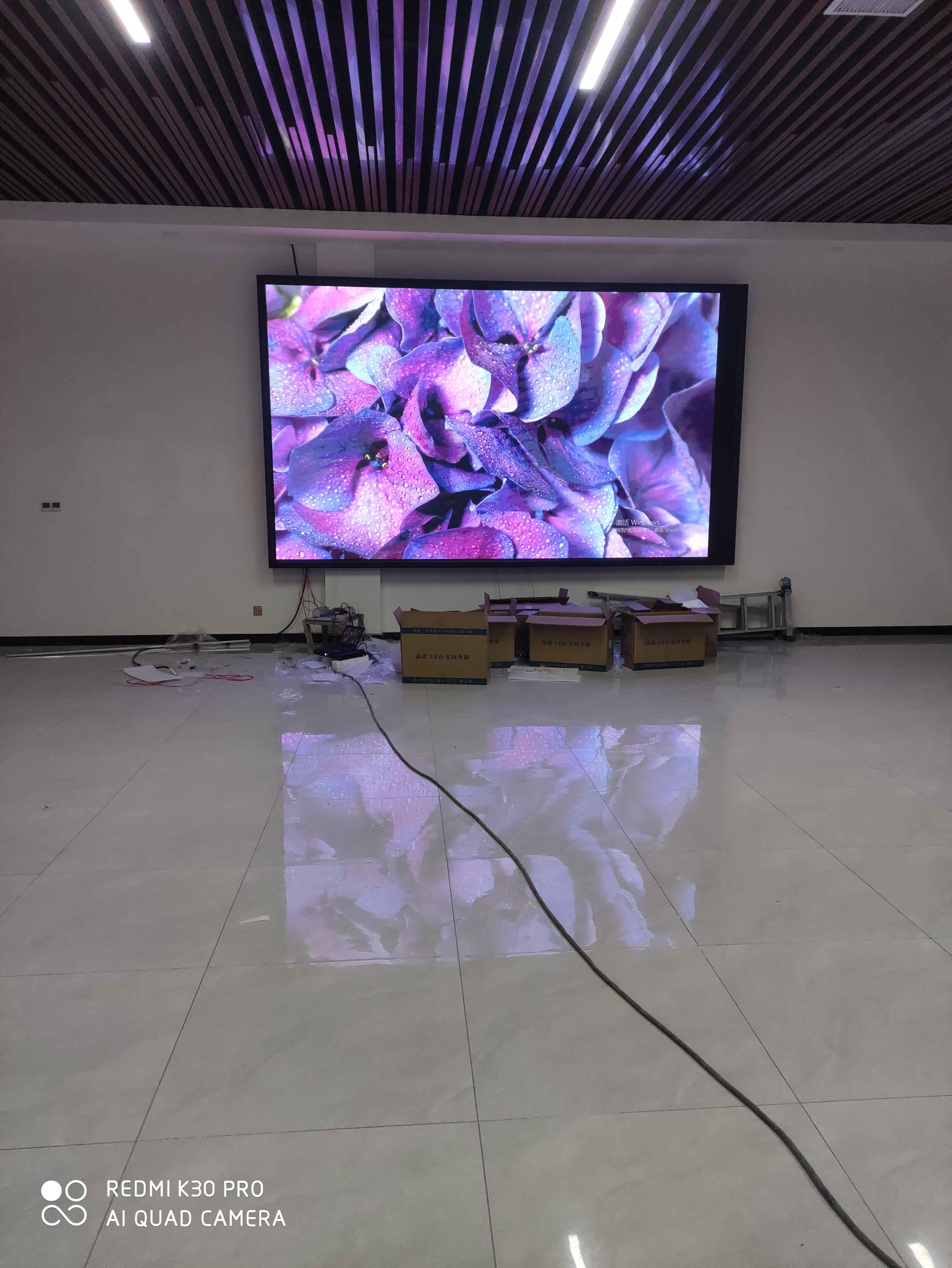 郑州LED显示屏厂家——焦作博爱县室内p3 12平方