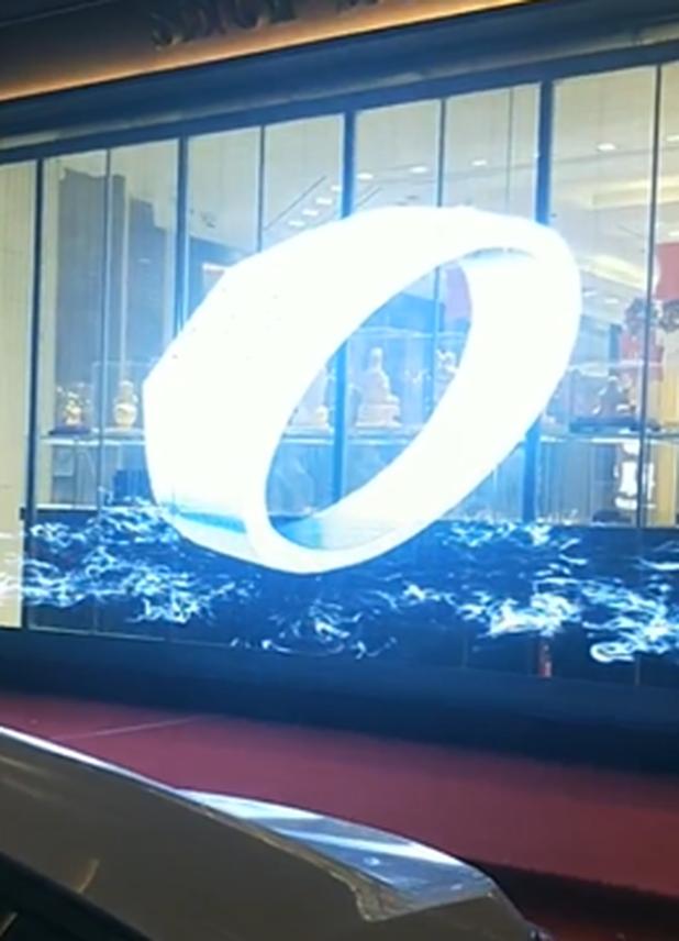 郑州珠宝店玻璃透明屏