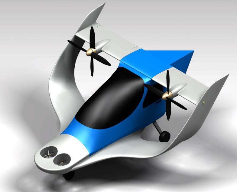 高效盒式倾转翼eVTOL敏捷载具