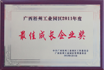 2011年度最佳成長企業獎