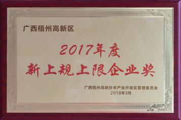 2017年度新上規上限企業獎