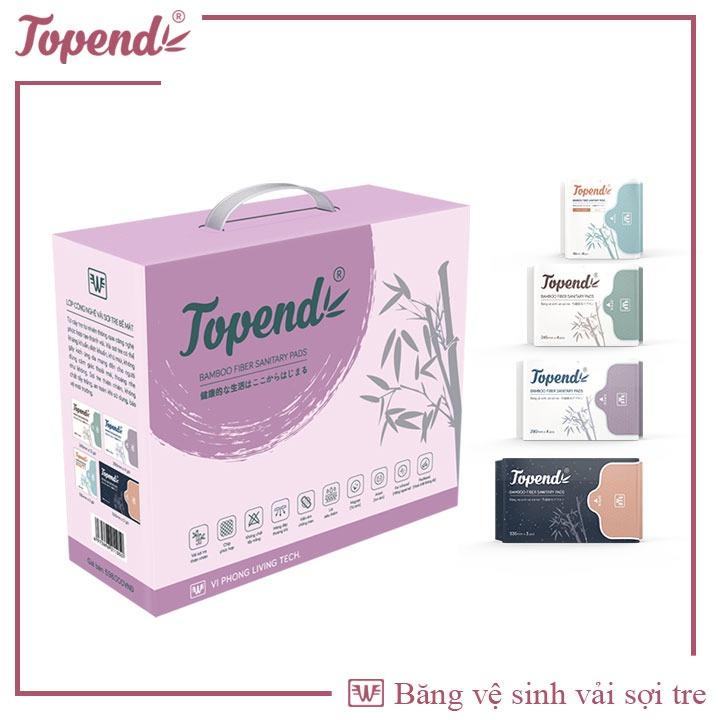 Băng vệ sinh TOPEND, set ngày đêm, băng vệ sinh vải sợi tre