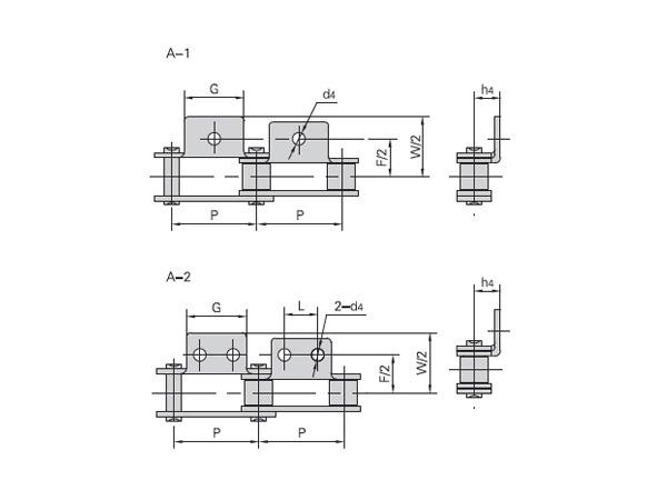 雙節距不銹鋼輸送鏈附件