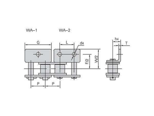 短節距不銹鋼輸送鏈附件