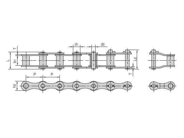 ZGS38聯合收割機鏈及附件