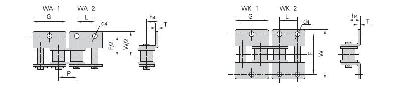 短節距輸送鏈附件