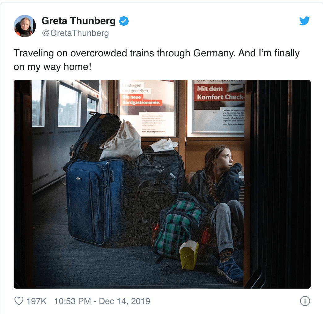 Greta Thunberg and German Railway