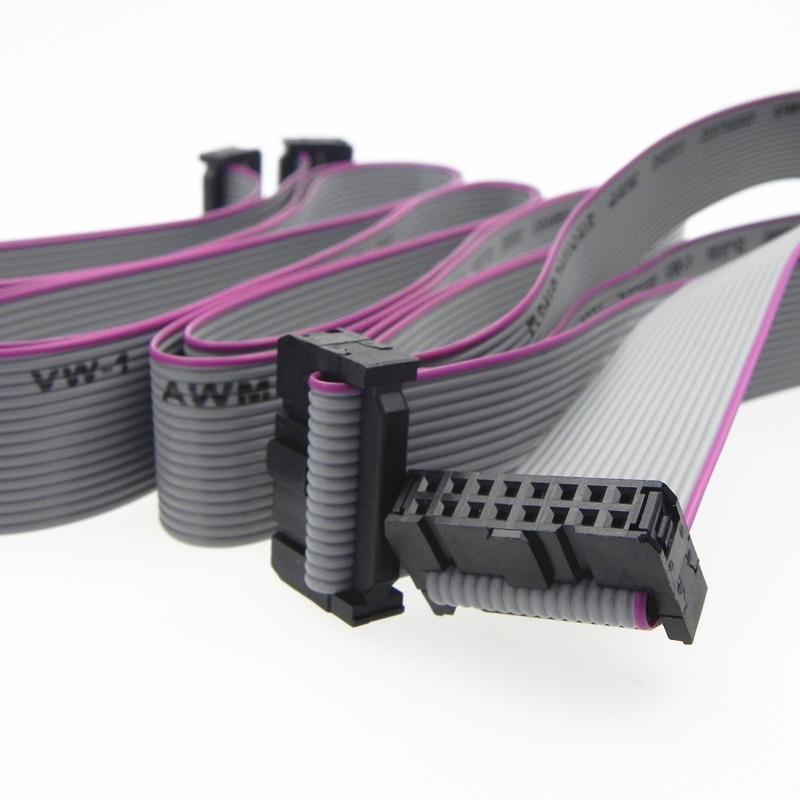 OEM grey1.0mm 1.27mm 16 pin 20 pin flat ribbon cable awm 2651 cable factory