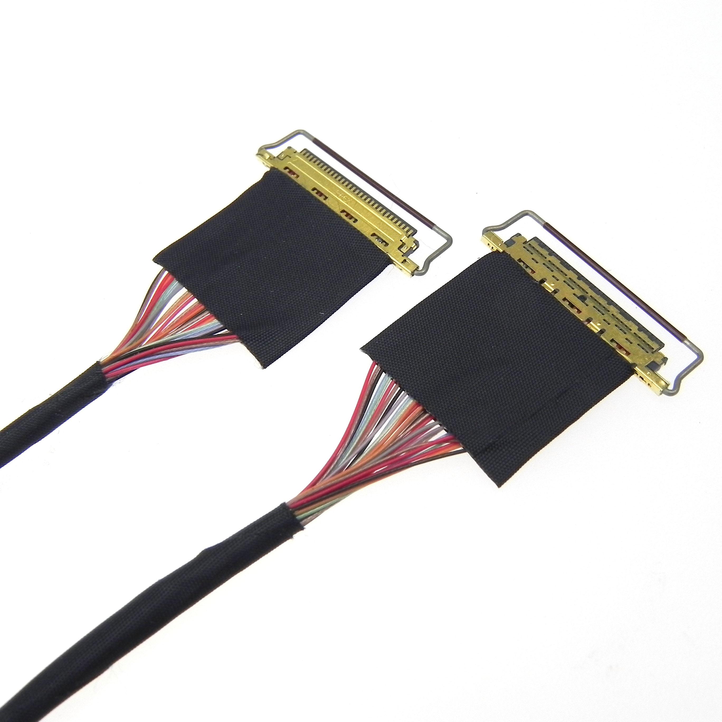Custom I-pex micro coaxial lvds cable