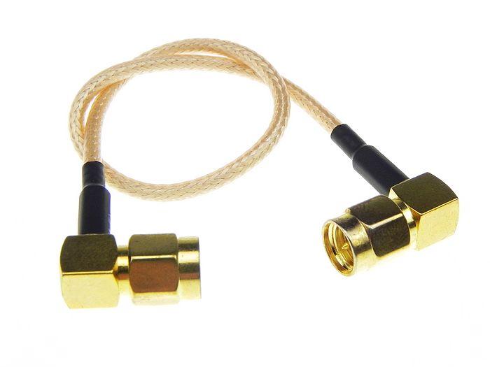 Custom SMAJW to RPSSAJW RG-316 coaxial rf antenna cable