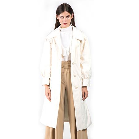 Lyn Fong2020秋冬新品设计师女装经典英伦风衣外套