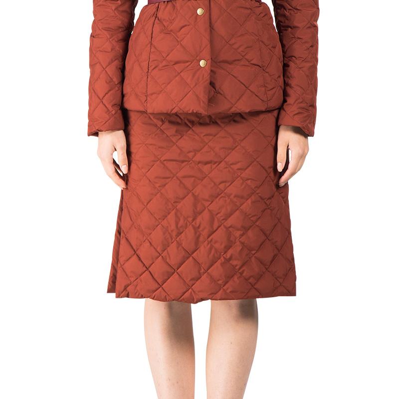 复古薄短款羽绒服半裙