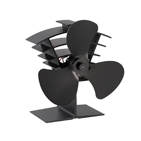 3 Blades Small Wood Stove Fan Eco Friendly for Home Wood Log Burning Fireplace