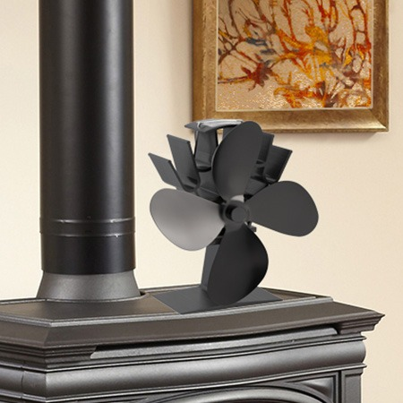 4-Blade Heat Powered Stove Fan for Wood/Log Burner/Fireplace - Eco Friendly