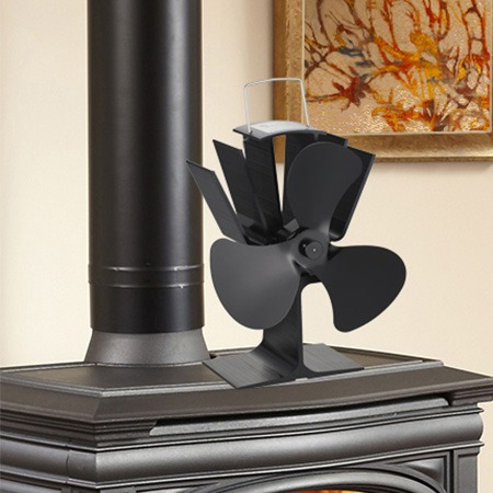 3 Blades Heat Powered Wood Stove Fan Circulating Warm Air and Saving Fuel Efficiently