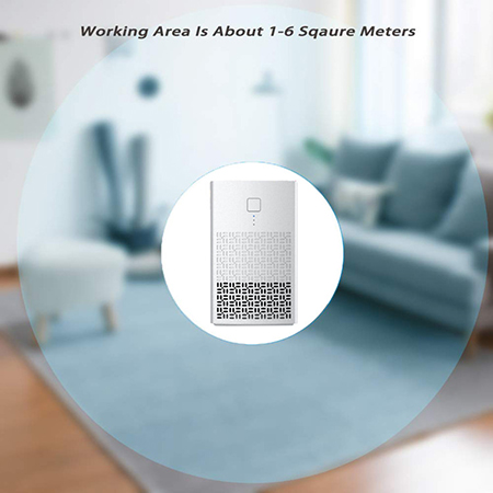 True HEPA Filter Air Purifiers for Home, Odor Eliminator, Air Cleaner for Bedroom and Office (AM-120A)