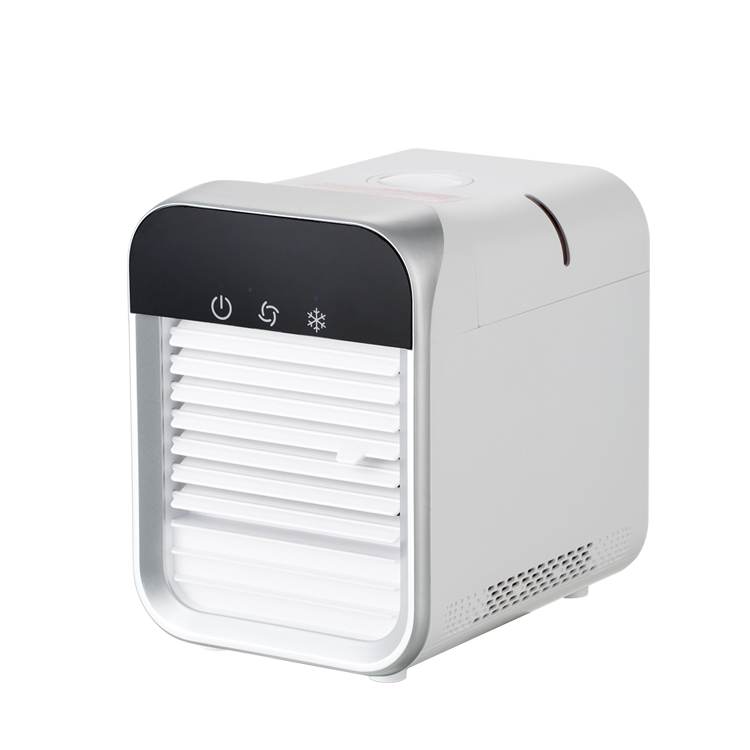 Portable Air Conditioner Fan, Quiet Air Cooler Misting Fan, Small Personal Desk Fan,3 Speeds