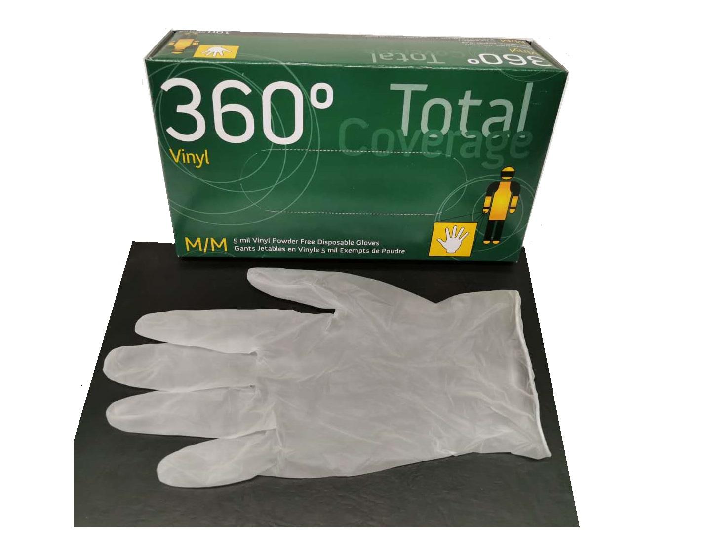 Vinyl一次性手套透明-M-100pcs