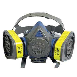 硅胶双罐防毒面具