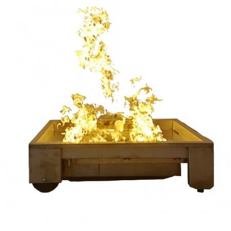 消防演习室内外真火模拟燃烧器便携式消防训练燃盘