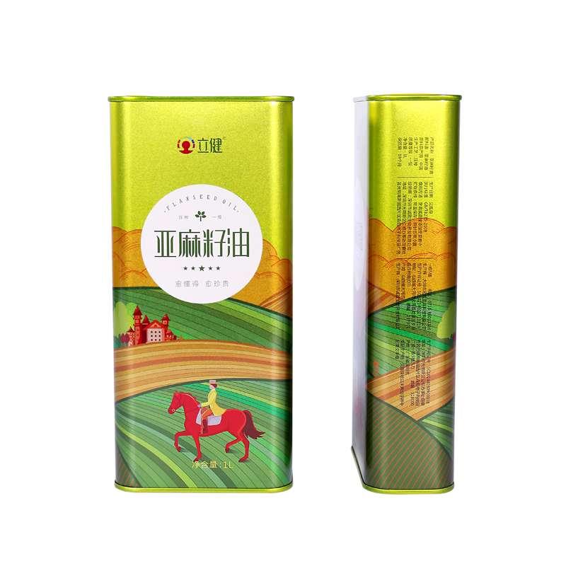 立健亚麻籽油1L*2瓶(礼盒)