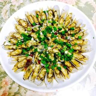 葱油蛏子(蛏子按斤计)