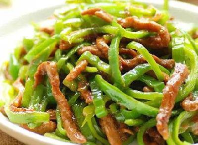 青椒肉丝(里脊肉0.5斤)