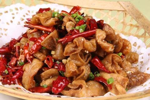 干煸肥肠(大肠1.5斤)