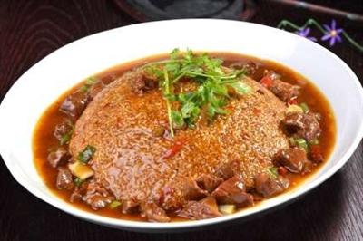 锅巴牛肉(牛肉0.6斤,锅巴)