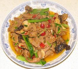 溜肝尖(猪肝0.8斤)
